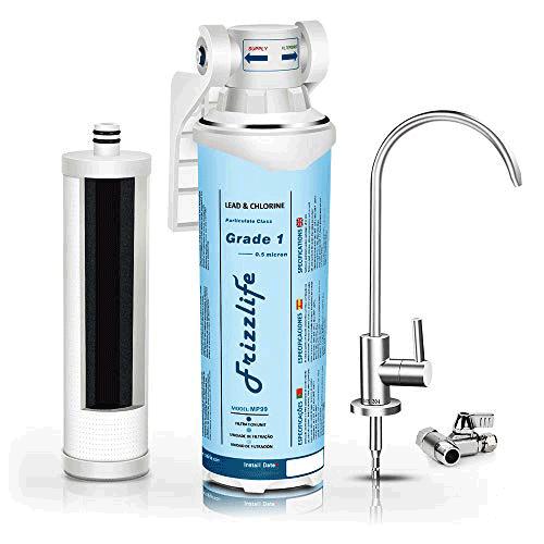 Frizzlife Under Sink Quick Change Water Filtration System