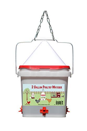 2 Gallon Chicken Waterer - Horizontal Nipple Setup