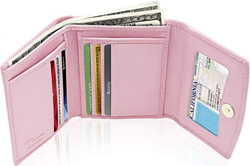 Access Denied Women's RFID Blocking Leather Slim Trifold Wallet