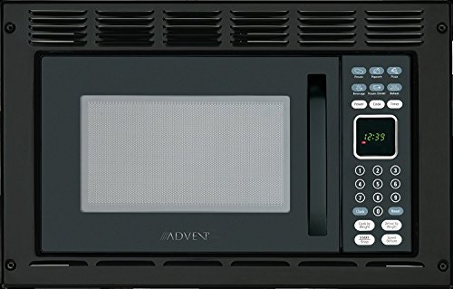Advent MW912BWDK Black Built-in Microwave Oven With Wide Trim Kit PMWTRIM