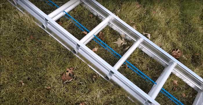 Aluminum or fiberglass extension ladder