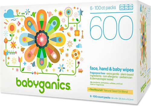 Babyganics Alcohol-Free Hand Sanitizer Wipes, Mandarin Best For sensitive Skin Like Baby's
