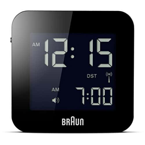 Braun Radio Controlled Travel Alarm Clock