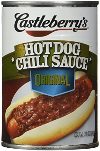 Castleberry's, Hot Dog Chili Sauce, Classic, 10oz Can (Pack of 6) Best chili dog sauce