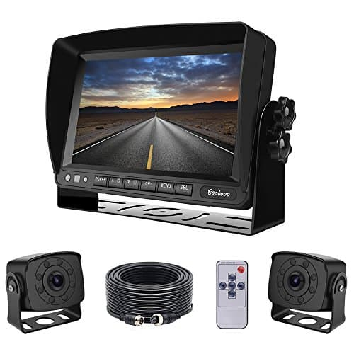 Coolwoo Dual Backup Cameras and Monitor Kit