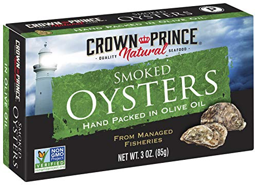 Crown Prince Natural Smoked Oysters In Pure Olive Oil
