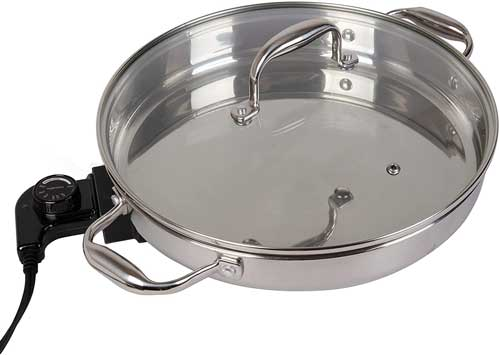CucinaPro Stainless Steel Electric Skillet