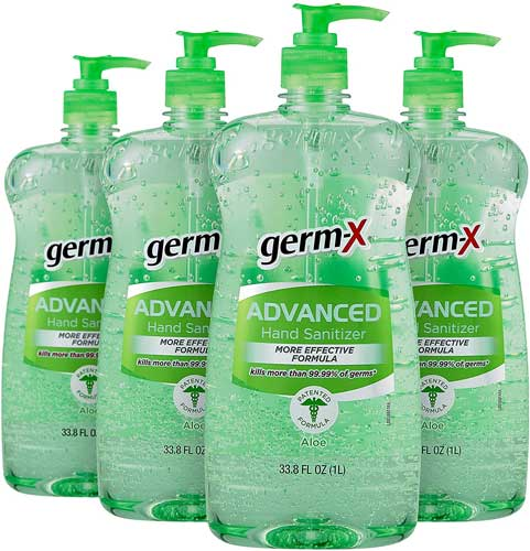 Germ-X Advanced Hand Sanitizer, Original, Pump Bottle