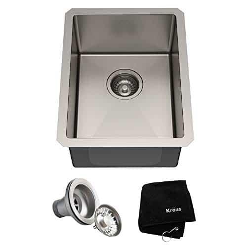 Kraus KHU101-14 Standart PRO 16 Gauge Undermount Single Bowl Stainless Steel Kitchen Bar Sink