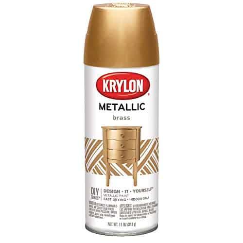 Krylon K02204 Brilliant Spray Metallic Brass Spray Paint