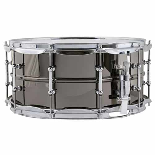Ludwig black beauty brass snare drum with tube lugs