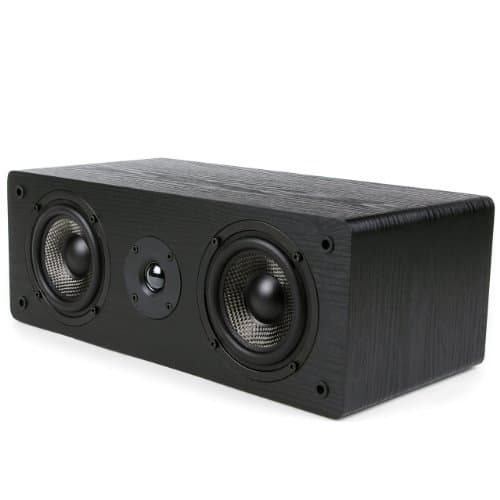 Micca MB42-C Center Channel Speaker With Dual 4-Inch Carbon Fiber Woofer and Silk Dome Tweeter