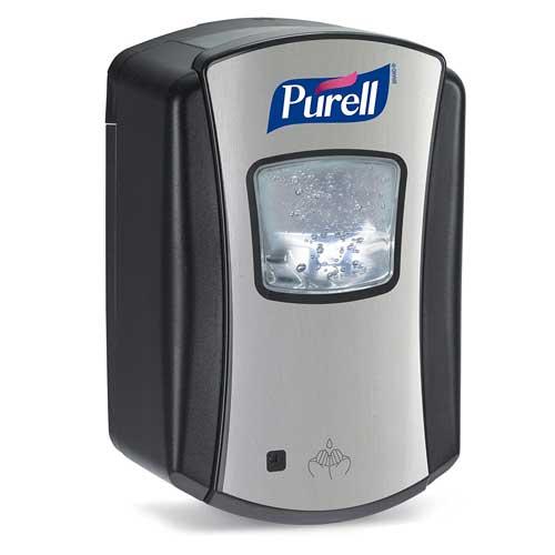 PURELL LTX-7 Hand Sanitizer Touch-Free Dispenser, Chrome/Black, Dispenser for PURELL LTX-7 700 mL Sanitizer Refills