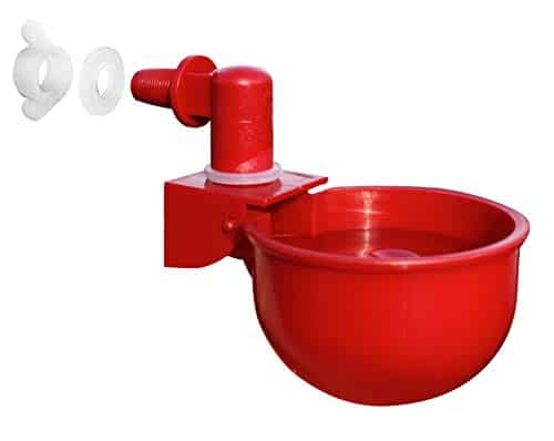 RentACoop Automatic Chicken Water Nipple Cup Waterer Kit For Poultry
