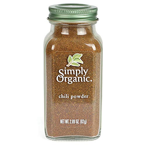 Simply Organic Chili Powder Certified Organic, 2.89-Ounce Container