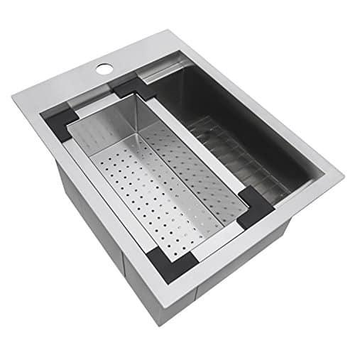 Topmount Bar Prep RV Sink 16 Gauge Stainless Steel - RVH8210
