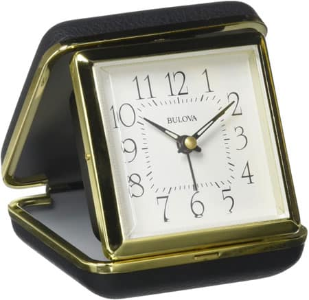 Widdop and Bingham Metal Fold Up Alarm Clock