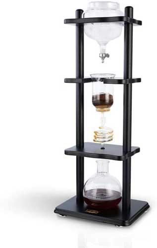 Yama Glass YAMCDM8SBK Coffee Tower