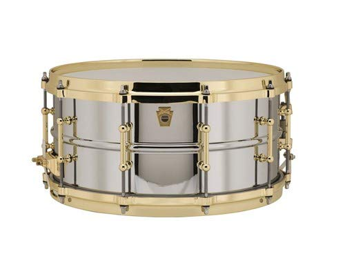 ludwig chrome plated brass snare drum
