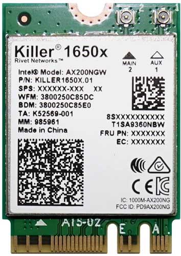 Killer WiFi 6 AX1650 Module