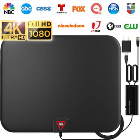GESOBYTE Amplified HD Digital TV Antenna