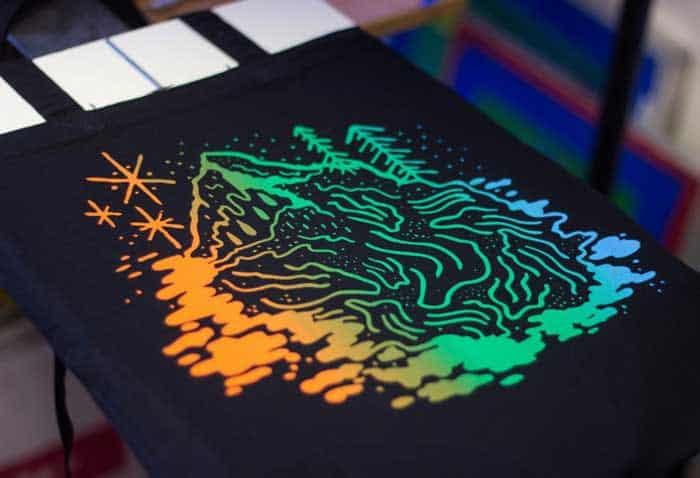 Print the design onto the shirt