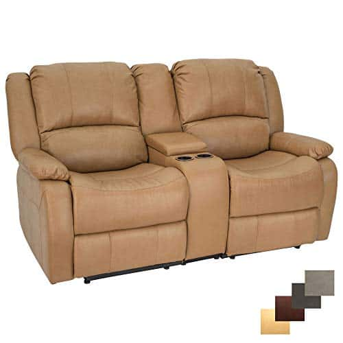 """ecPro Charles 67"""" Powered Double RV Wall Hugger Recliner Sofa"""