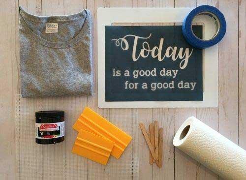 Screen Print T-shirts At Home