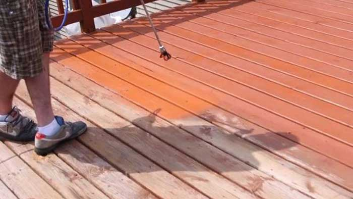 Deck Stain for Weathered Wood