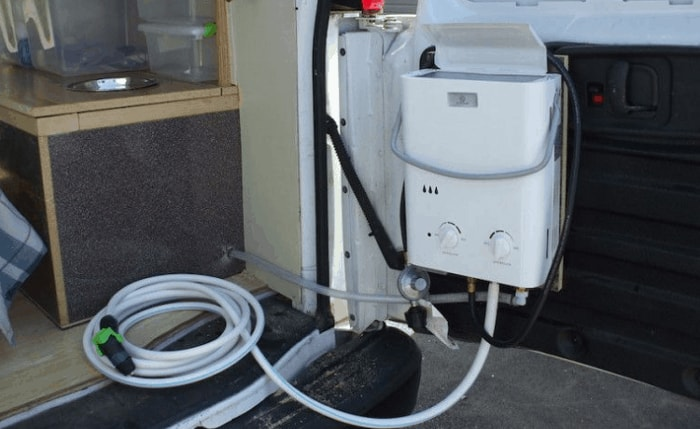 RV water heater to tankless